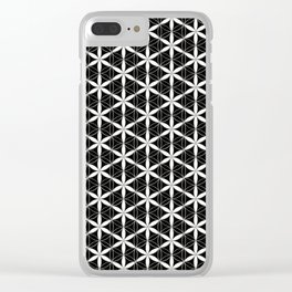 Flower of Life Pattern 3 Clear iPhone Case