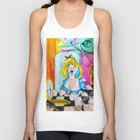 alice in wonderland Tank Tops featuring Wonderland by Amana HB