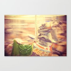 Merry-go-round from our youth Canvas Print