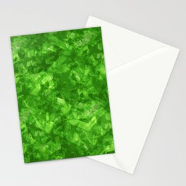 Dark pastel variegated green stars in the projection. Stationery Cards