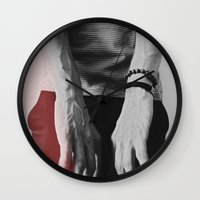 hands Wall Clocks featuring Hands by Teodora Roşca