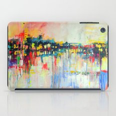 on the water,  expressive landscape, abstract iPad Case