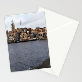 Blokzijl little harbour in the Netherlands Stationery Cards