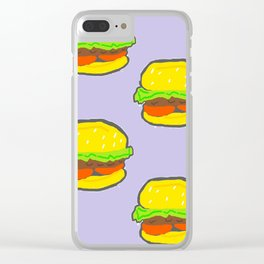 Burger Pattern Clear iPhone Case
