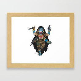 Kali the Black - Goddess of Airsoft Framed Art Print