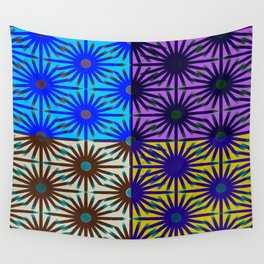 Daisy Forms Pop-Art Quartet Wall Tapestry
