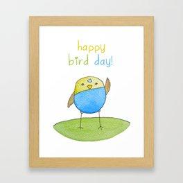 Happy Bird Day Framed Art Print