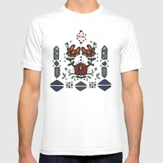 Tribal 2 White MEDIUM Mens Fitted Tee