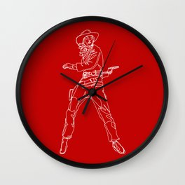 Crimson Cowgirl Wall Clock