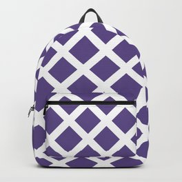 Grill in Ultra Violet and White Backpack