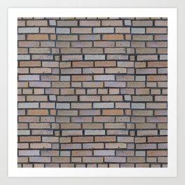 Protective brick wall Art Print