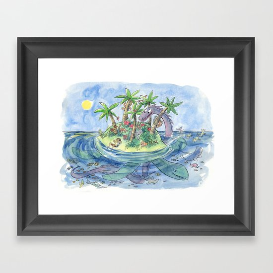 I'm On An Island Framed Art Print