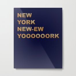 New York, New York Glitter Metal Print