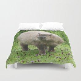 So cute capybara Duvet Cover