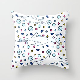 Memphis Ocean #3 Throw Pillow