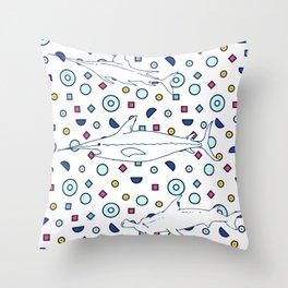 Memphis Ocean #3 Throw Pillow