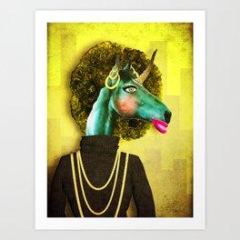 Glamour Unicorn Art Print