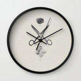 ROCK / SCISSORS / PAPER Wall Clock