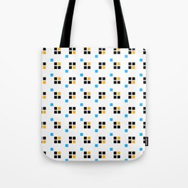 Three color enlarged pixel pattern Tote Bag