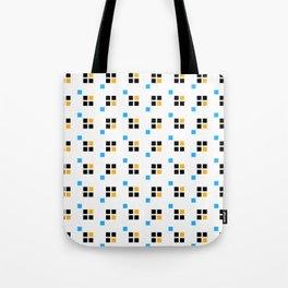 Three color enlarged pixel pattern Tote Bag