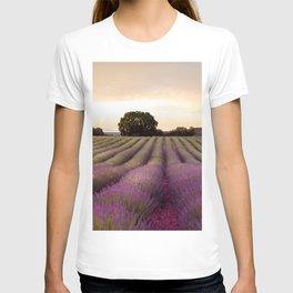 The Lavender Fields at Sunset. Landscape Fine Art Photography T-shirt