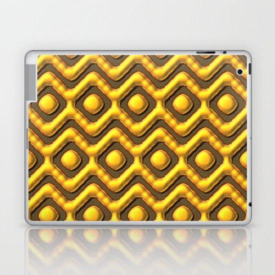 Liquid Gold Pattern Laptop & iPad Skin