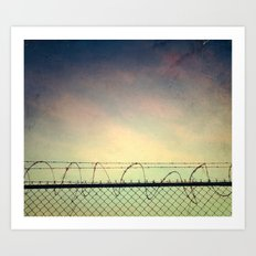 BARBWIRE BLUES Art Print