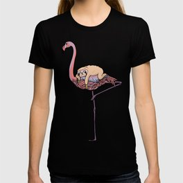 Flamingo and Sloth T-shirt