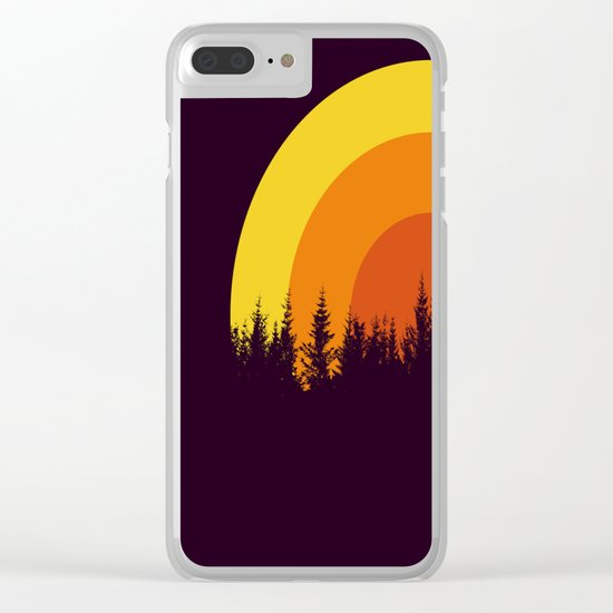 summer mountain Clear iPhone Case