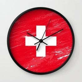 Switzerland's Flag Design Wall Clock