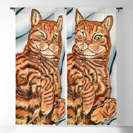 Ginger Cat Blackout Curtain