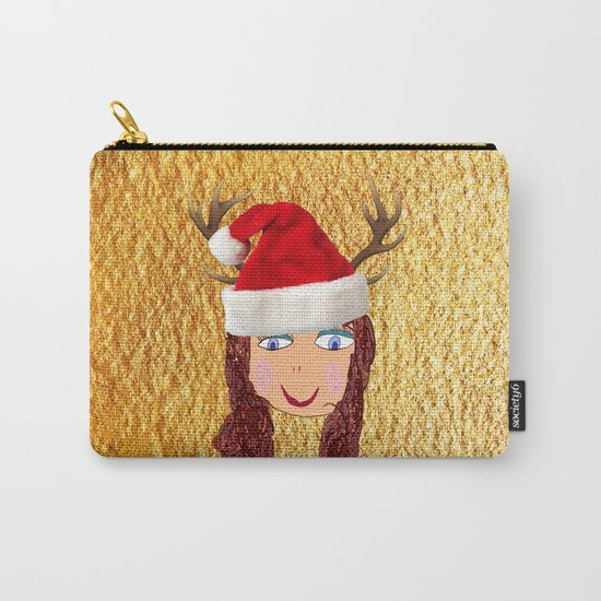 Gold Christmas | Kids Painting | Christmas Spirit Carry-All Pouch