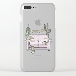 Couchella Clear iPhone Case