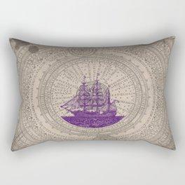 Purple Schooner Rectangular Pillow