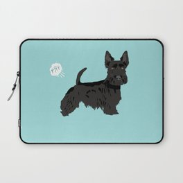 scottish terrier scotties funny farting dog breed pure breed pet gifts Laptop Sleeve