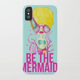 golden.  a happy mermaid iPhone Case