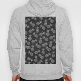 Tropical modern black gray pineapple fruit pattern Hoody