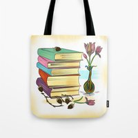 books Tote Bags featuring Books by famenxt