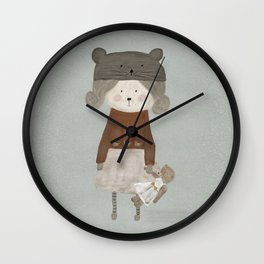 lucy bear Wall Clock