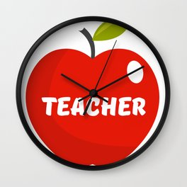 Teachers Apple Wall Clock