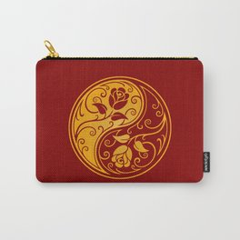 Yellow and Red Yin Yang Roses Carry-All Pouch