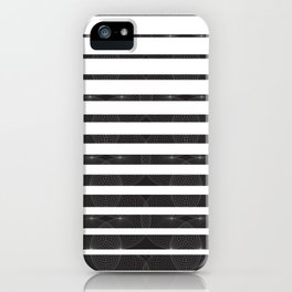 Spirograph on stripes - 1 iPhone Case