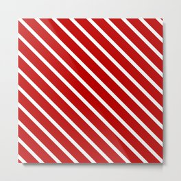 Chilli Diagonal Stripes Metal Print