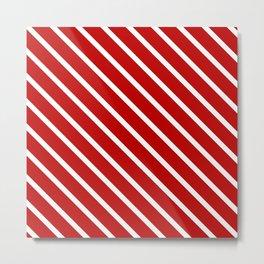 Chilli Diagonal Stripes Metal Print