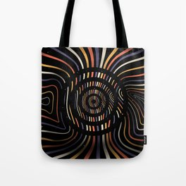 Color op art striped lines with circles Tote Bag