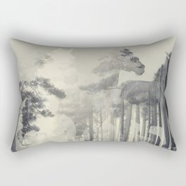 Like a Horse in the woods Rectangular Pillow
