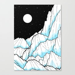 The Ice mountains Canvas Print