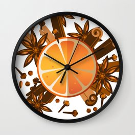 Spicy winter Wall Clock