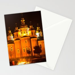 glowing church Stationery Cards