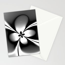 Black and White Abstract Floral  Stationery Cards
